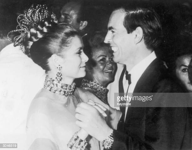 Dr Christiaan Barnard , South African pioneer of the heart transplant, dances with Princess Grace , President of the Monaco Red Cross at the Monte...