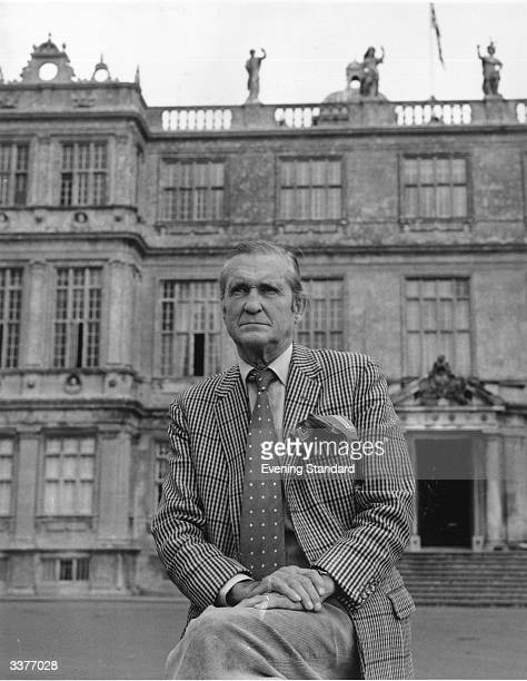 Henry Frederick Thynne 6th Marquess of Bath outside his home at Longleat House in Wiltshire which he opened to the paying public in 1949 and where he...