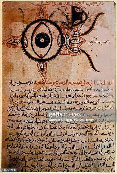 12th century manuscript copied from the original 9th century manuscript by IbnAshaq The illustration is from �The Book of the Ten Treatises on the...