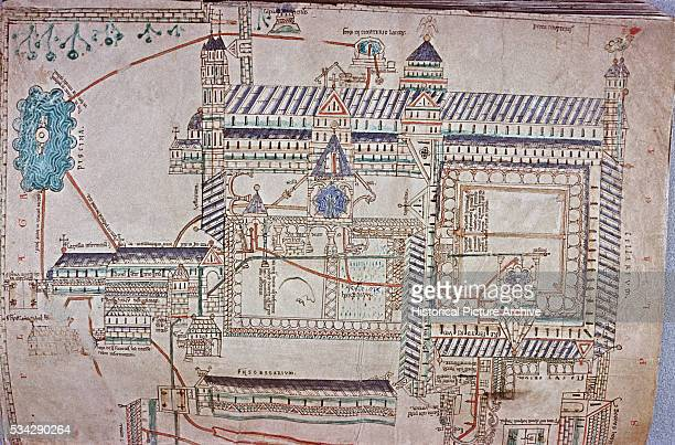 12th Century Plan of Canterbury Cathedral