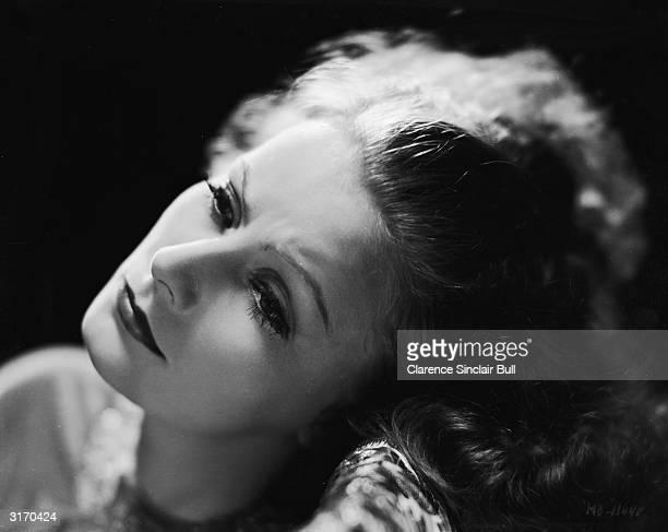 Greta Garbo looking slightly fraught.