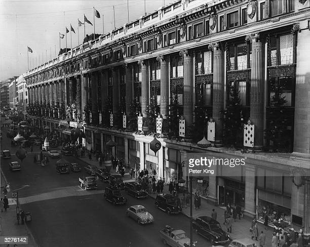 The ideal place for Christmas shopping is Selfridges the well known department store in Oxford Street