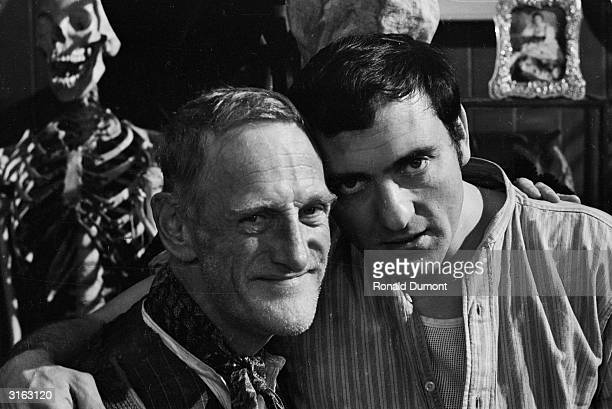 Wilfrid Brambell and Harry H Corbett stars of the 70s television show 'Steptoe and Son'