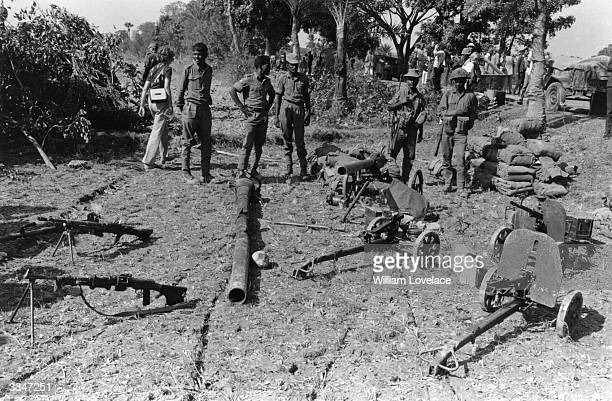 Indian Mukti Bahini troops on their way to the front line in East Pakistan during the state's struggle to become the independent state of Bangladesh