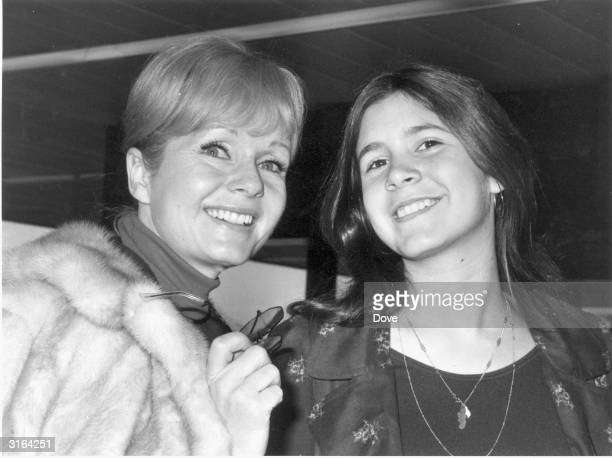 American actress Debbie Reynolds with her daughter Carrie Fisher