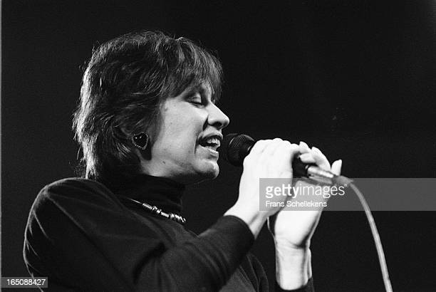 12th FEBRUARY: Brazilian singer Astrud Gilberto performs at the Paradiso in Amsterdam, Netherlands on 12th February 1988.