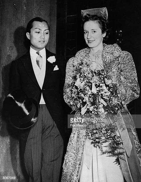 Prince Birabongse of Thailand the racing prince weds Miss Ceril Haycock at the Siamese Legation The prince races under the name of B Bira