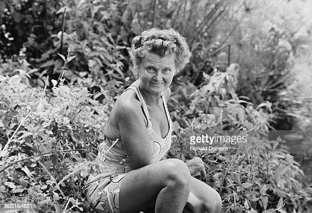 Naturalist Joy Adamson author of the book 'Born Free' about her time living with lions in Africa
