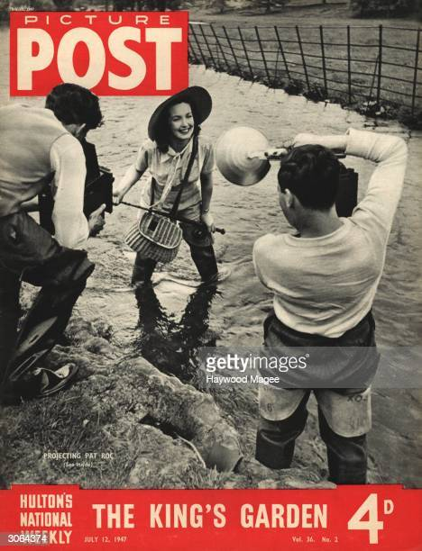 English actress Patricia Roc poses as an angler during a publicity shoot in Buckinghamshire intended to further her Hollywood career The headline...
