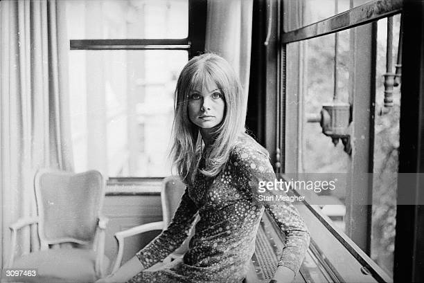 British model Jean Shrimpton who is about to make her film debut in 'Privilege' directed by Peter Watkins