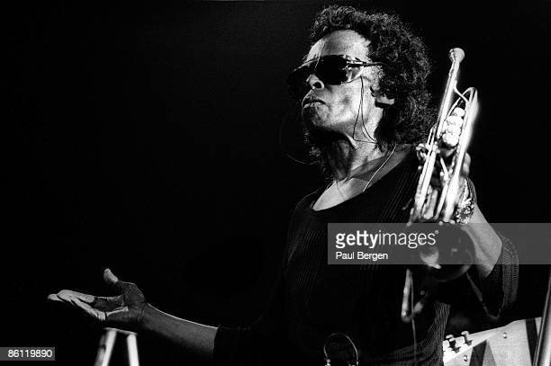 American jazz musician and composer Miles Davis performs live on stage at the North Sea Jazz Festival in The Hague Netherlands on 12th July 1991