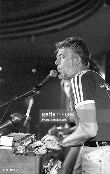 12th JULY: Blues singer John Mayall performs live on stage at the North Sea Jazz festival in the Congresgebouw, The Hague, Netherlands on 12th July...