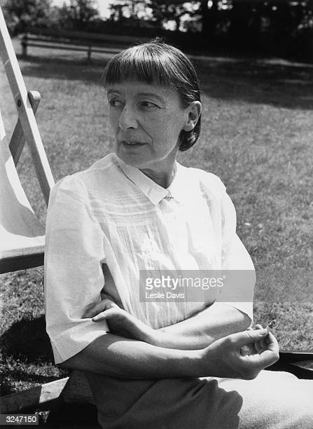 English poet and novelist Stevie Smith whose first book 'Novel on Yellow Paper' was published in 1936 Original Publication Picture Post 7174 Meet The...