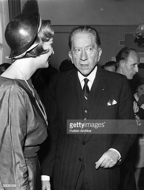 J Paul Getty the American oil executive and multi millionaire arriving for a luncheon being held in his honour at Earls Court to mark the publication...
