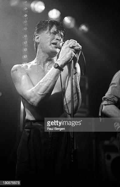 Dutch singer Herman Brood performs live on stage at De Boerderij in Zoetermeer Netherlands on 12th June 1987