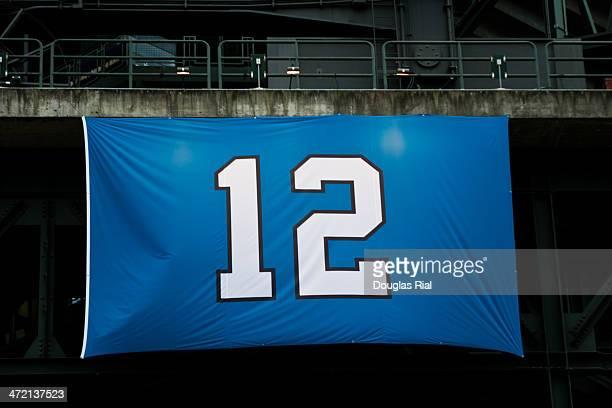 12th Man Sign on Stadium