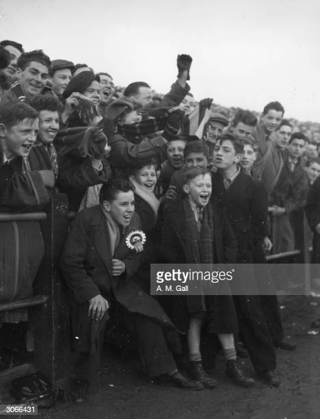 Celtic fans watching their team play Falkirk at Brockville Park Original Publication Picture Post 7607 A Great Scottish Football Series Celtic pub...