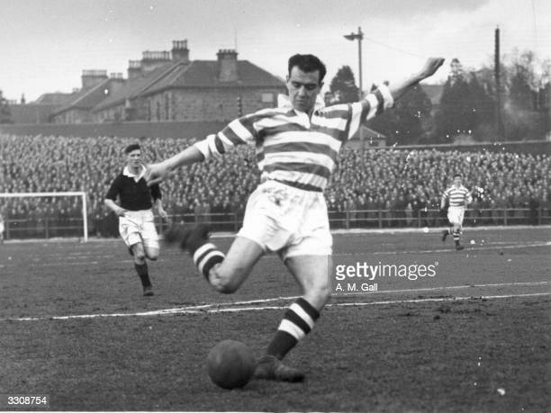 Celtic FC player Willie Fernie about to score against Falkirk during a match at Brockville Park Fernie was a gifted insideright who joined Celtic in...
