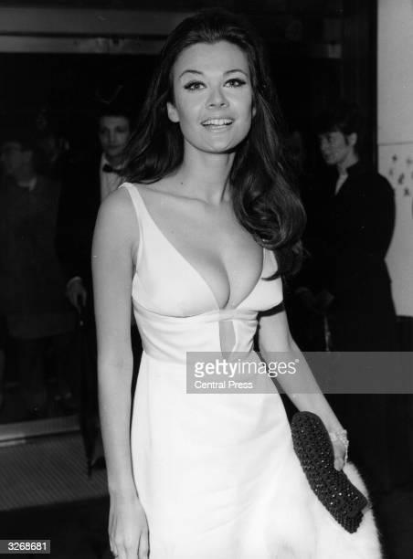 The film star Imogen Hassall in a revealing dress when she was attending the film premiere of 'Cactus Flower'
