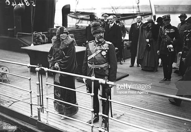 King Ferdinand and Queen Marie of Romania arriving at Dover for a state visit