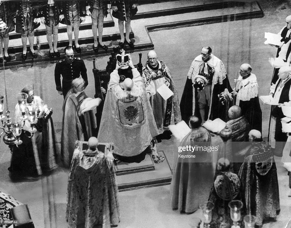 The coronation of King George VI at Westminster Abbey, London.