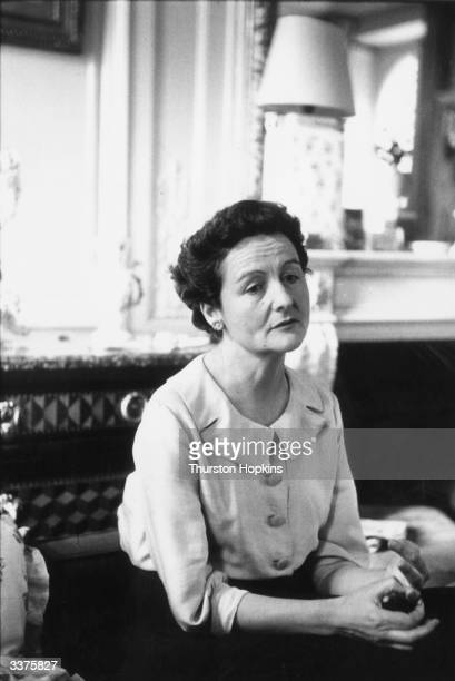 English writer Nancy Freeman Mitford in her apartment in Paris. One of the essayists in 'Noblesse Oblige', edited by herself, she helped to originate...