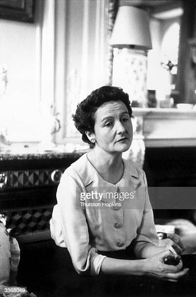 English writer Nancy Mitford . Daughter of the 2nd Baron Redesdale, she moved in upper class circles and satirized the British upper classes in...