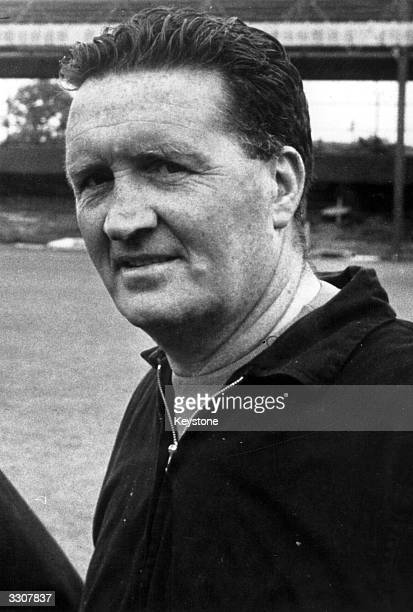 Celtic manager Jock Stein during a training session for Celtic's European Cup Final match against Inter Milan Tommy Gemmell and Stevie Chalmers...