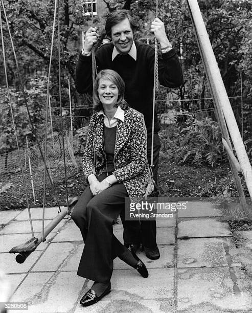 Journalist and politician Peter Jay with his wife Margaret in their garden in Ealing London The son of Labour politician Douglas Jay and soninlaw of...