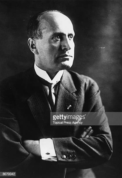 Italian fascist dictator Benito Mussolini