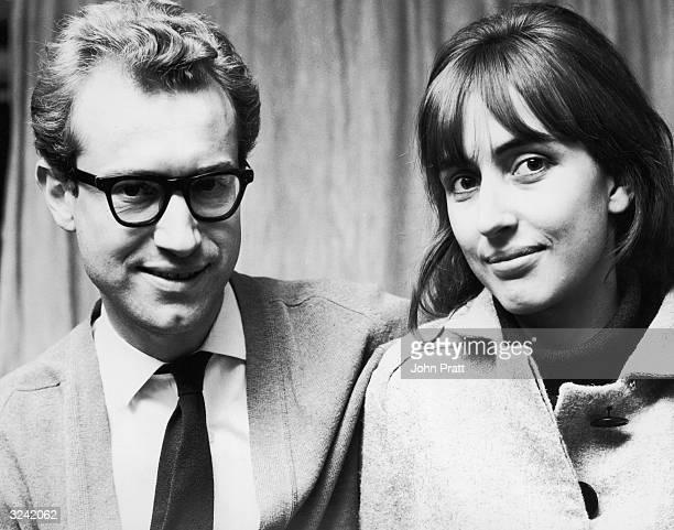 British writer and broadcaster Bamber Gascoigne with his new wife photographer Christina Ditchbury Gascoigne presented the TV quiz show 'University...