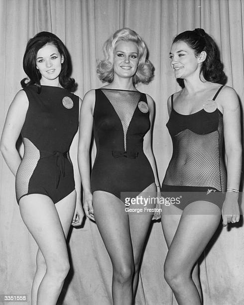 Competitors in the 'Miss World' beauty competition in London wear their bikini's From left to right Miss Canada Carol Ann Tidey Miss United Kingdom...