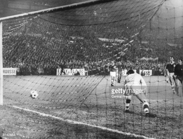 Irish goalkeeper Pat Dunne can only watch as Jose Antonio Ufarte scores the goal which would knock the Republic of Ireland team out of the World Cup...