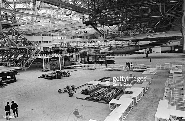 The first ever purposebuilt airline hangar built by BOAC to house the new Boeing 747 jets