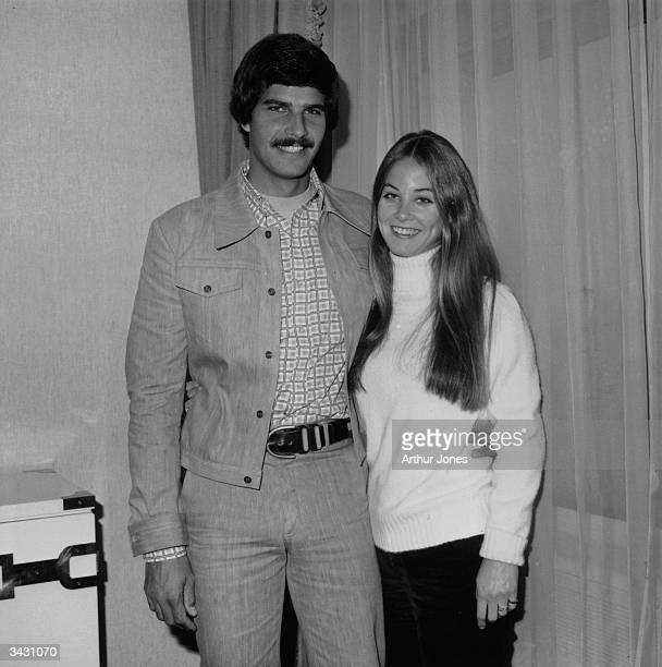 Mark Spitz winner of seven Olympic gold medals for swimming in the 1972 Munich Games with his wife
