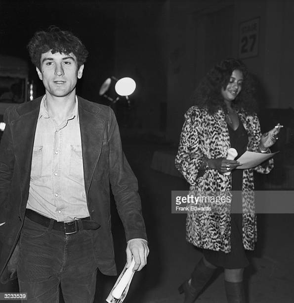 American actor Robert De Niro and his girlfriend, Diahnne Abbott, leaving the party for the movie, 'Won Ton Ton, the Dog Who Saved Hollywood,' at...