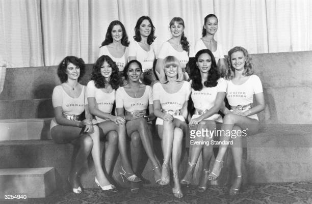 A line up of the most favoured contestants for the 1979 Miss World Contest