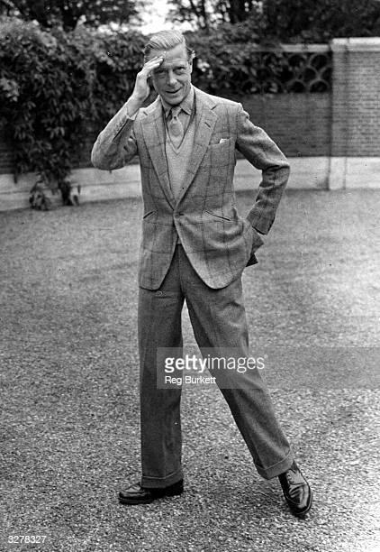 The Duke of Windsor in the grounds of Ednam Lodge Sunningdale