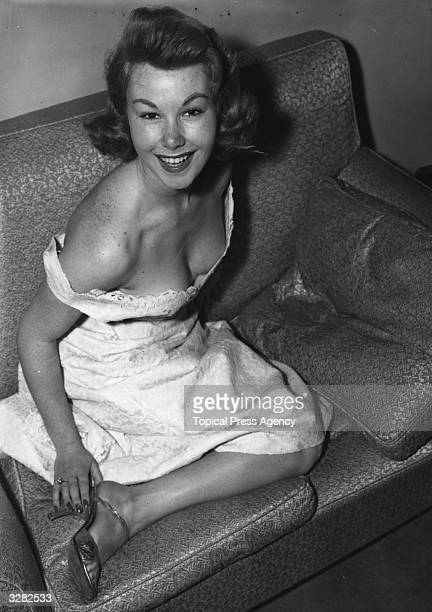 Actress, Nadine Tallier, the co-star of 'Mam'selle Striptease'.