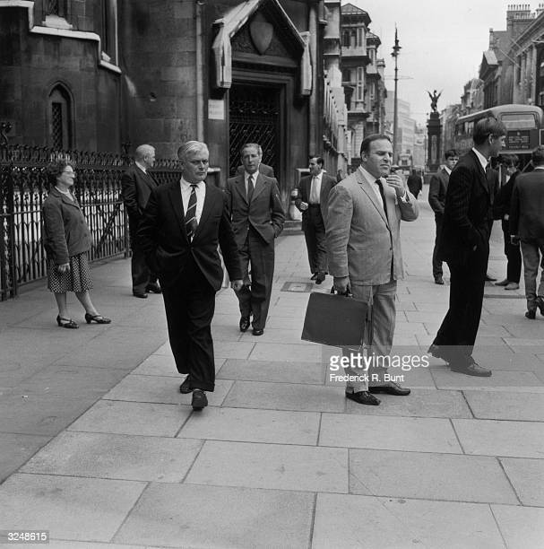Don Arden manager of rock 'n' roll star Gene Vincent outside the Law Courts in the Strand London during one of his many legal disputes