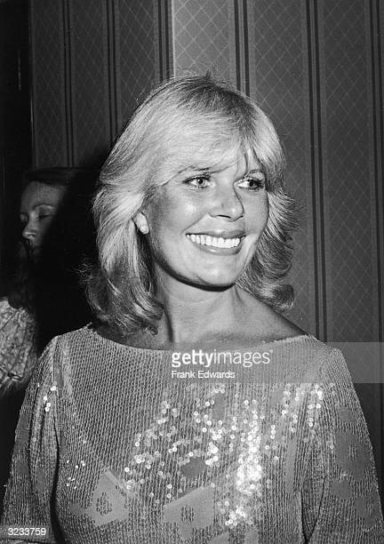 American actor Loretta Swit wearing a sequined blouse smiles at an Emmy Awards banquet at the Century Plaza Hotel Los Angeles California Swit won an...