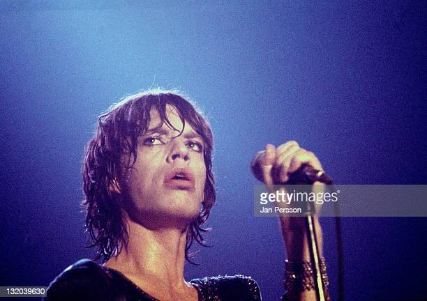 Mick Jagger from The Rolling Stones performs live on stage at The Forum in Copenhagen Denmark on 12th September 1970