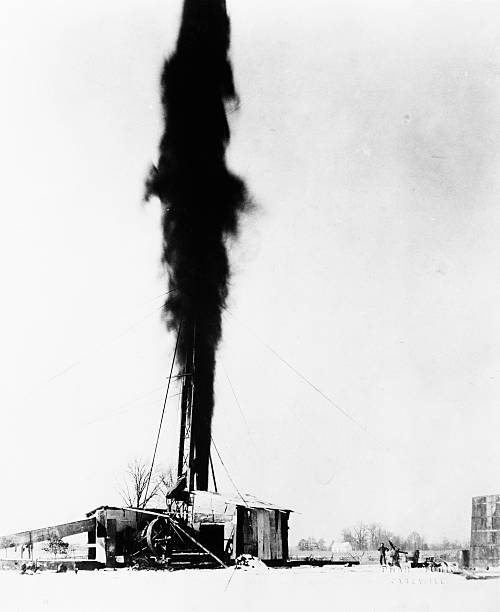 Image result for pictures of spewing oil wells