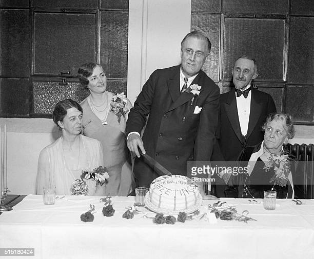 1/30/1932Cut Yourself a piece of cake and that's just what Franklin D Roosevelt didThe Governor of New York State is shown as he cut the cake at the...