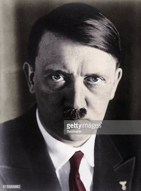 Munich, Germany- This portrait study of Adolf Hitler is said to be the most recent to be made of the man who rose from a humble house painter and...