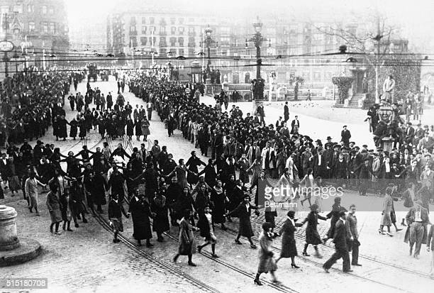 1/31/1932BilboaSpain Communist outbreak depicted demonstrators in Bilboa women marchers in the foreground Five cities were involved in the uprising