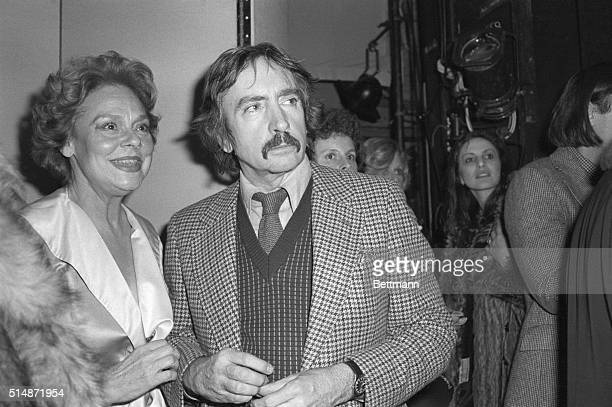 """New York, NY: Playwright Edward Albee is backstage at the Morosco Theater after the Broadway opening of his new play, """"The Lady From Dubuque."""""""
