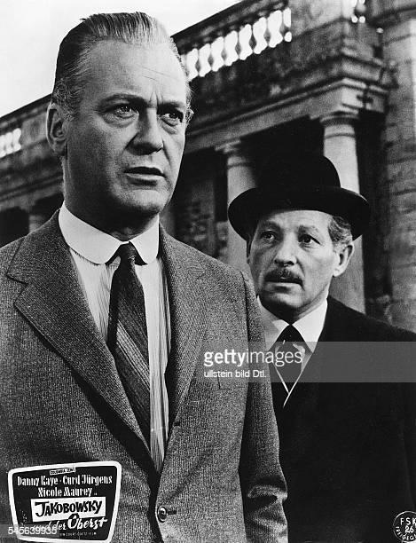 """Schauspieler, Dmit Danny Kaye in dem Spielfilm:""""Jakobowsky und der Oberst""""Regie: Peter GlenvilleUSA, 1958"""
