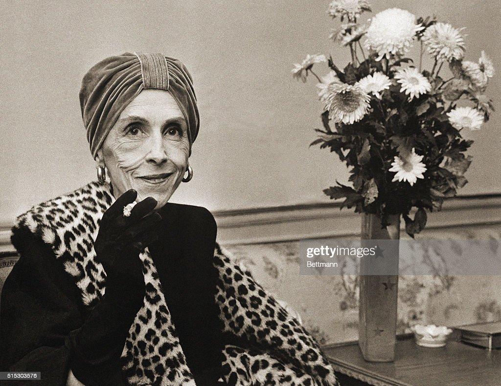 Countess Karen Blixen Relaxes with Cigarette : ニュース写真