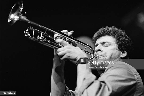 13th: American trumpet player Herb Robertson performs at the NOS Jazz festival at de Meervaart in Amsterdam, Netherlands on 13th August 1988.